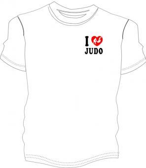 """Judo Shirt """"I Love Judo"""""""