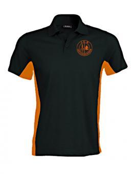 Vereinspolo black/orange