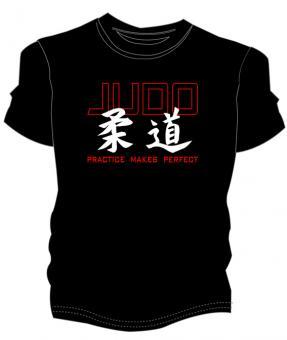 "Judo Shirt ""practice makes perfect"""