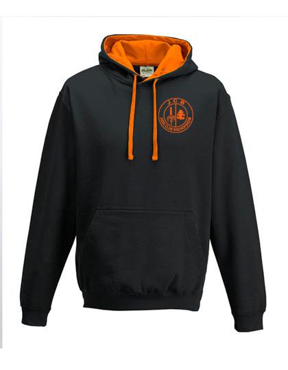 Hoodie black/orange *Erwachsene